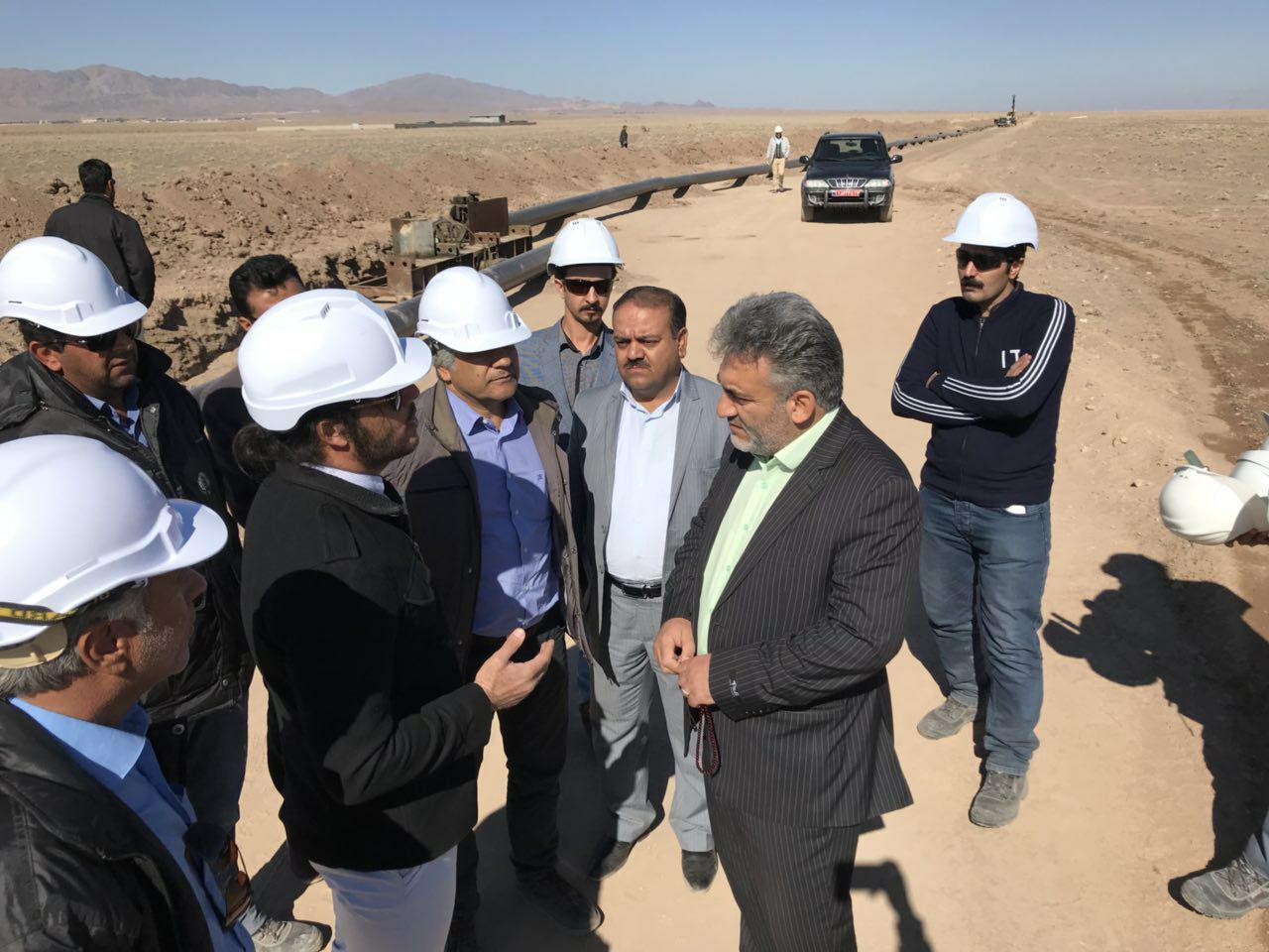 بازديدفرماندار نهبندان از پروژه انتقال گاز از سربيشه به نهبندان